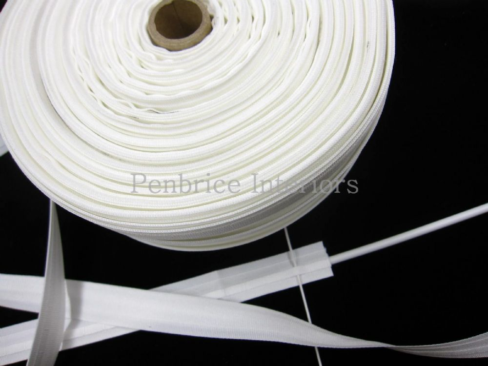Roman Blind Tape 100m Trade Reel 2cm Wide For 5mm Rods Sew